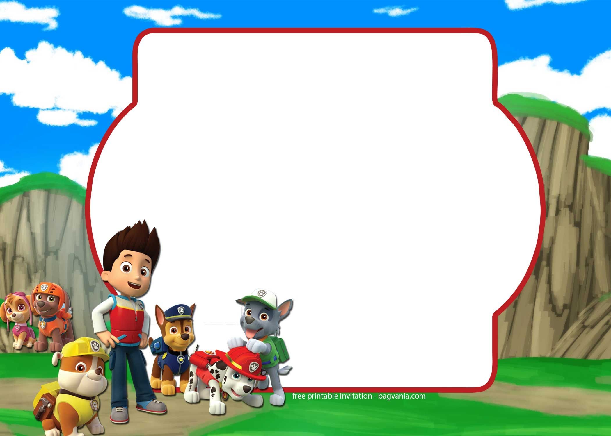 FREE Paw Patrol Invitation Template Complete Collection Bagvania - Paw patrol invitation template