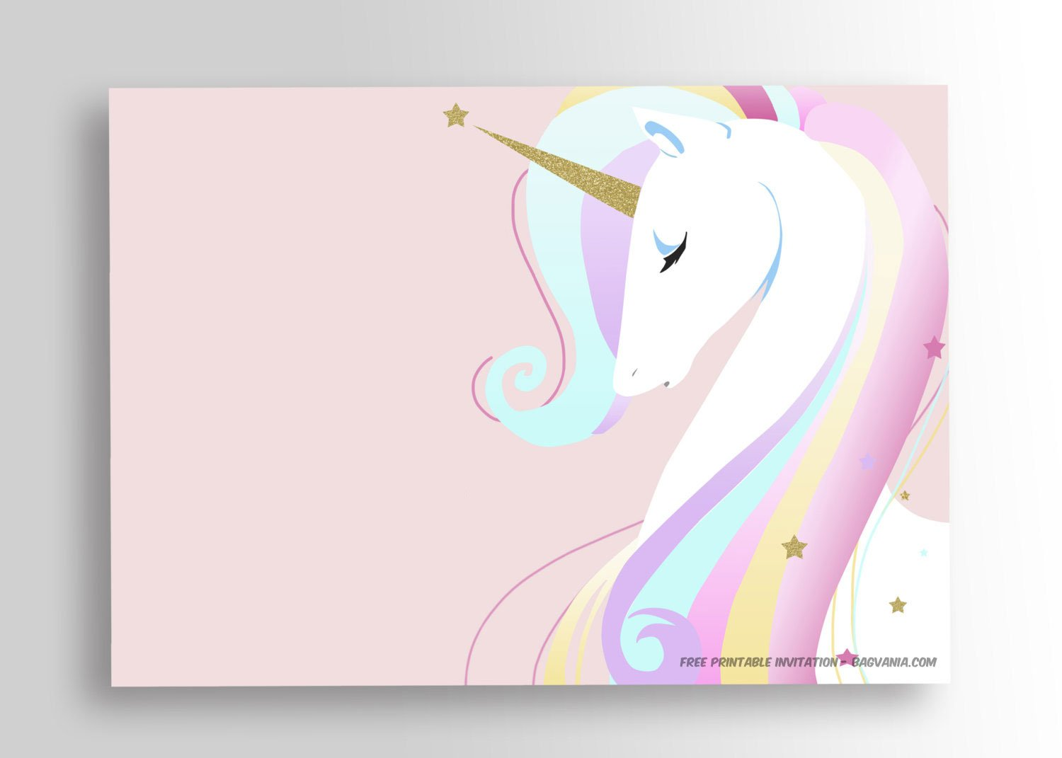 free printable unicorn birthday invitation template  u2013 free