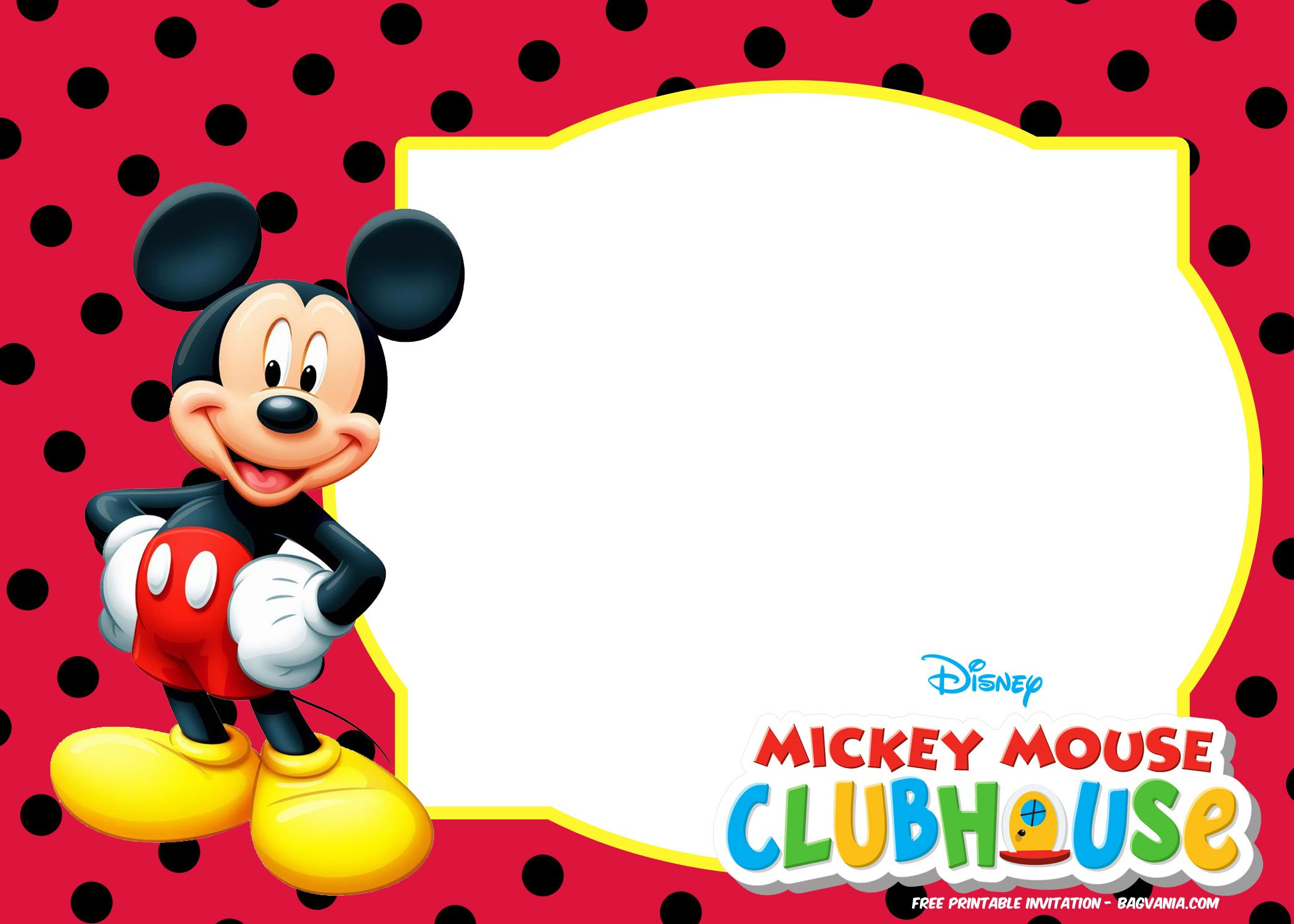 free mickey mouse invitation templates