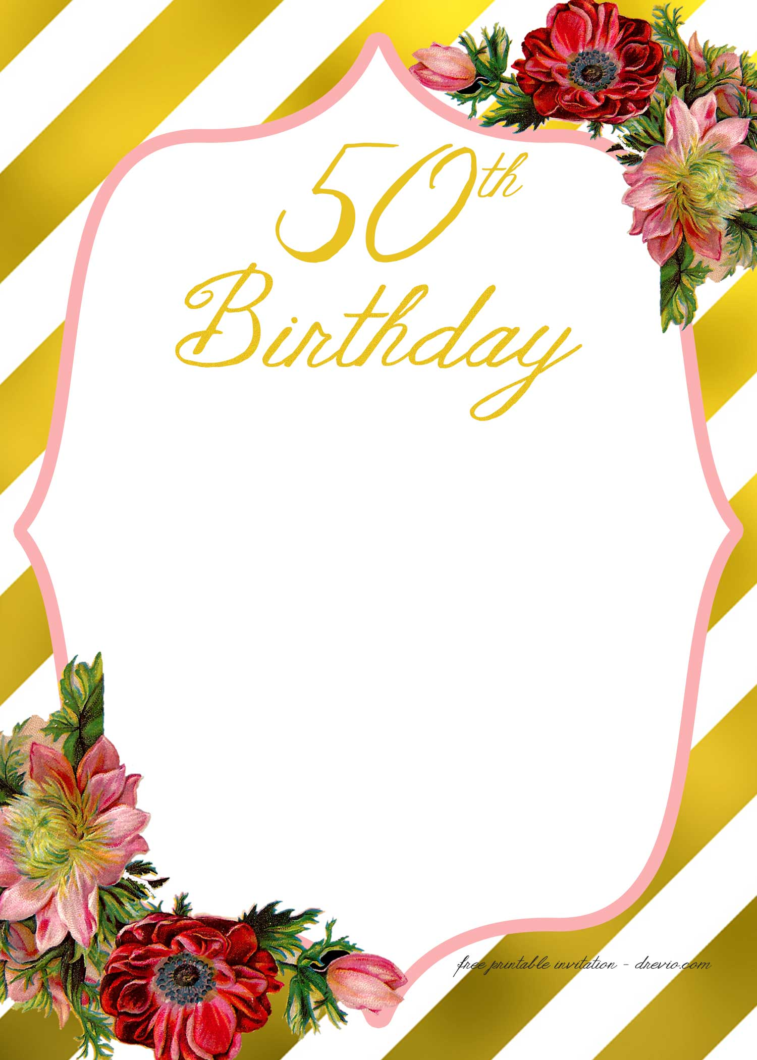 FREE Printable Adult Birthday Invitation Template  FREE Printable