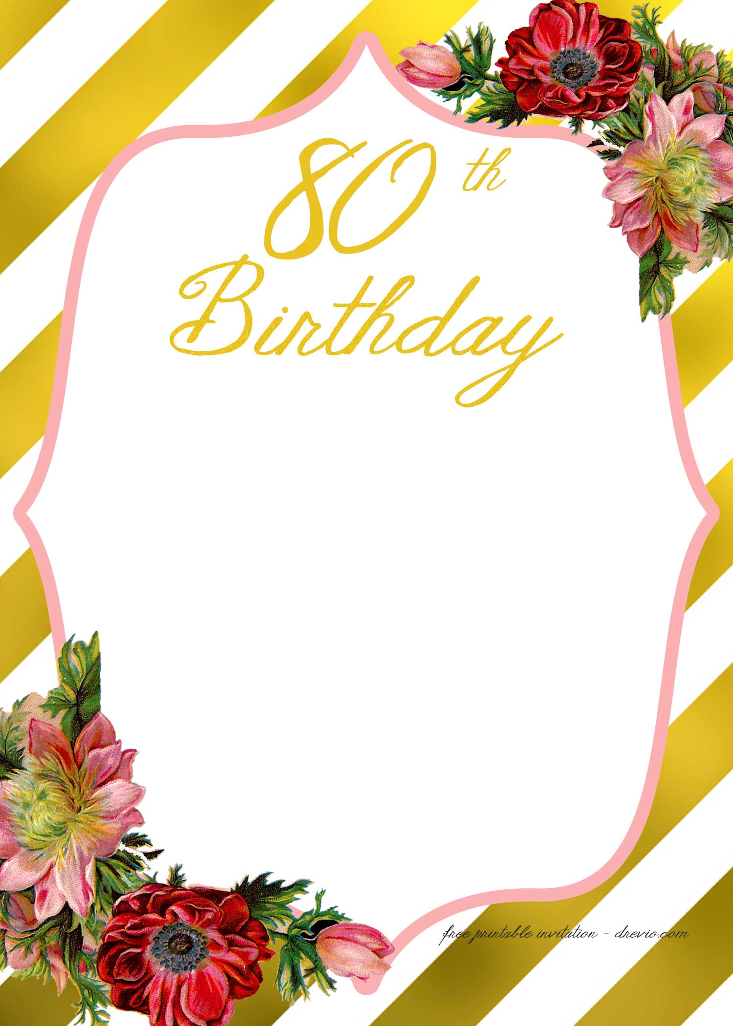 FREE Printable Adult Birthday Invitation Template – FREE Printable