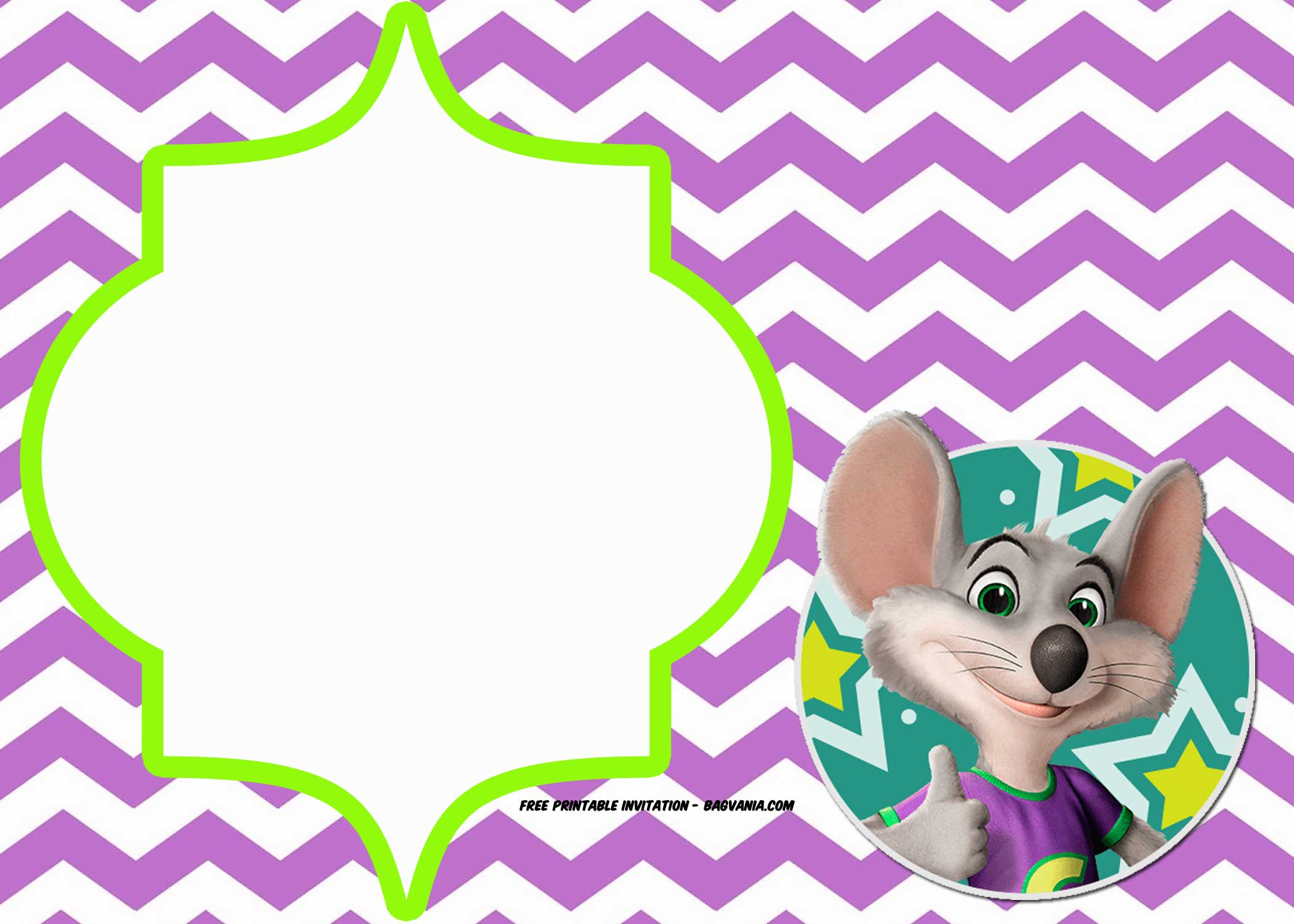 FREE Chuck E Cheese Birthday Invitation Template Bagvania FREE - Chuck e cheese birthday invitation template