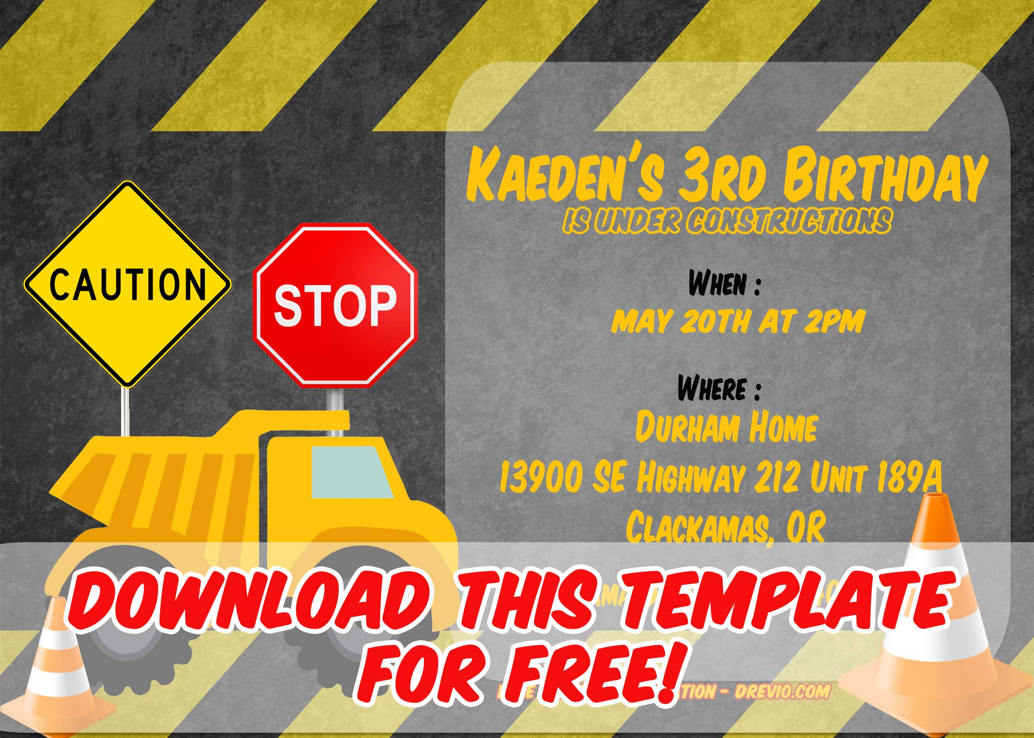 free construction invitation templates  u2013 free printable