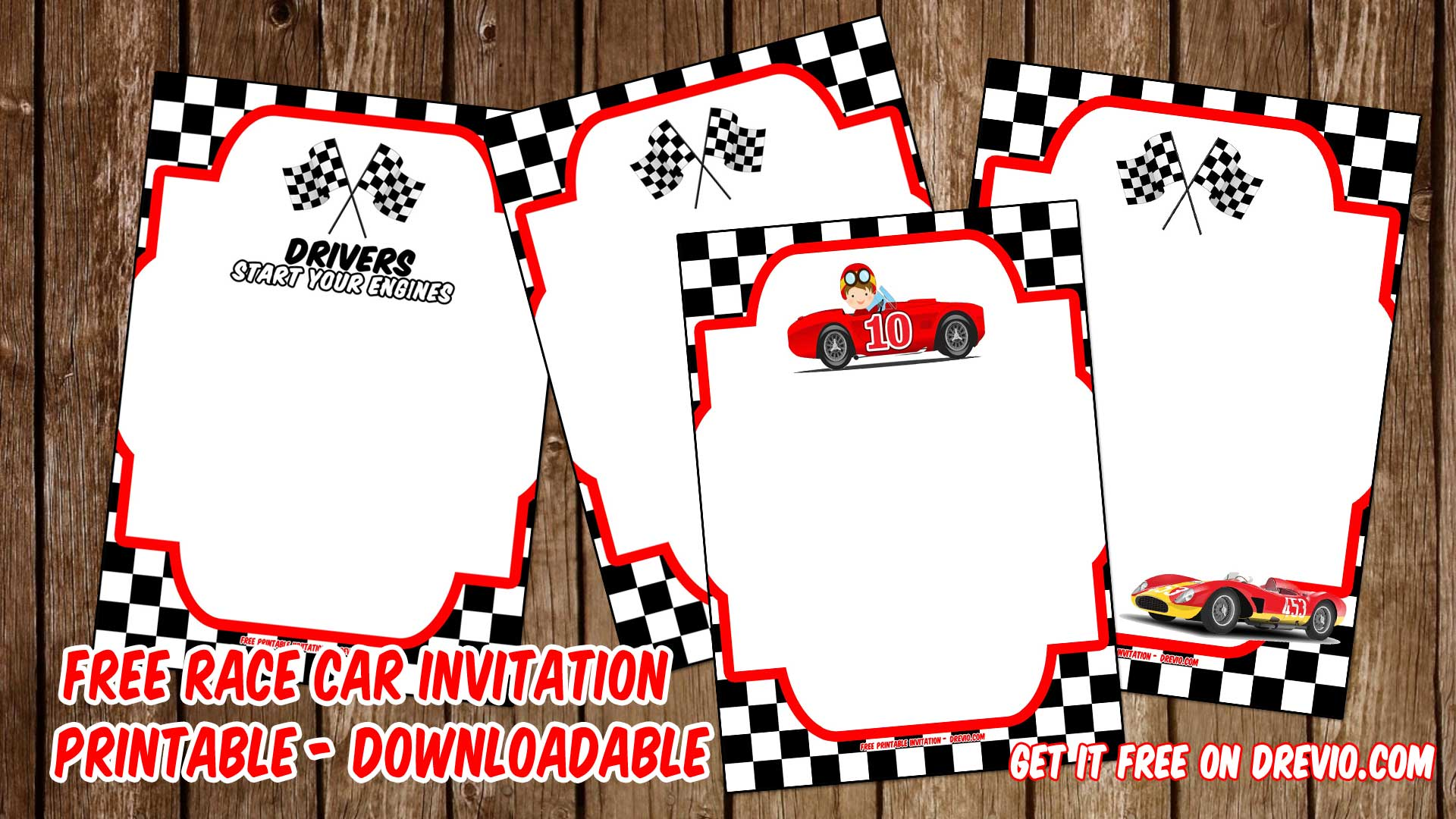 free printable race car invitation templates bagvania