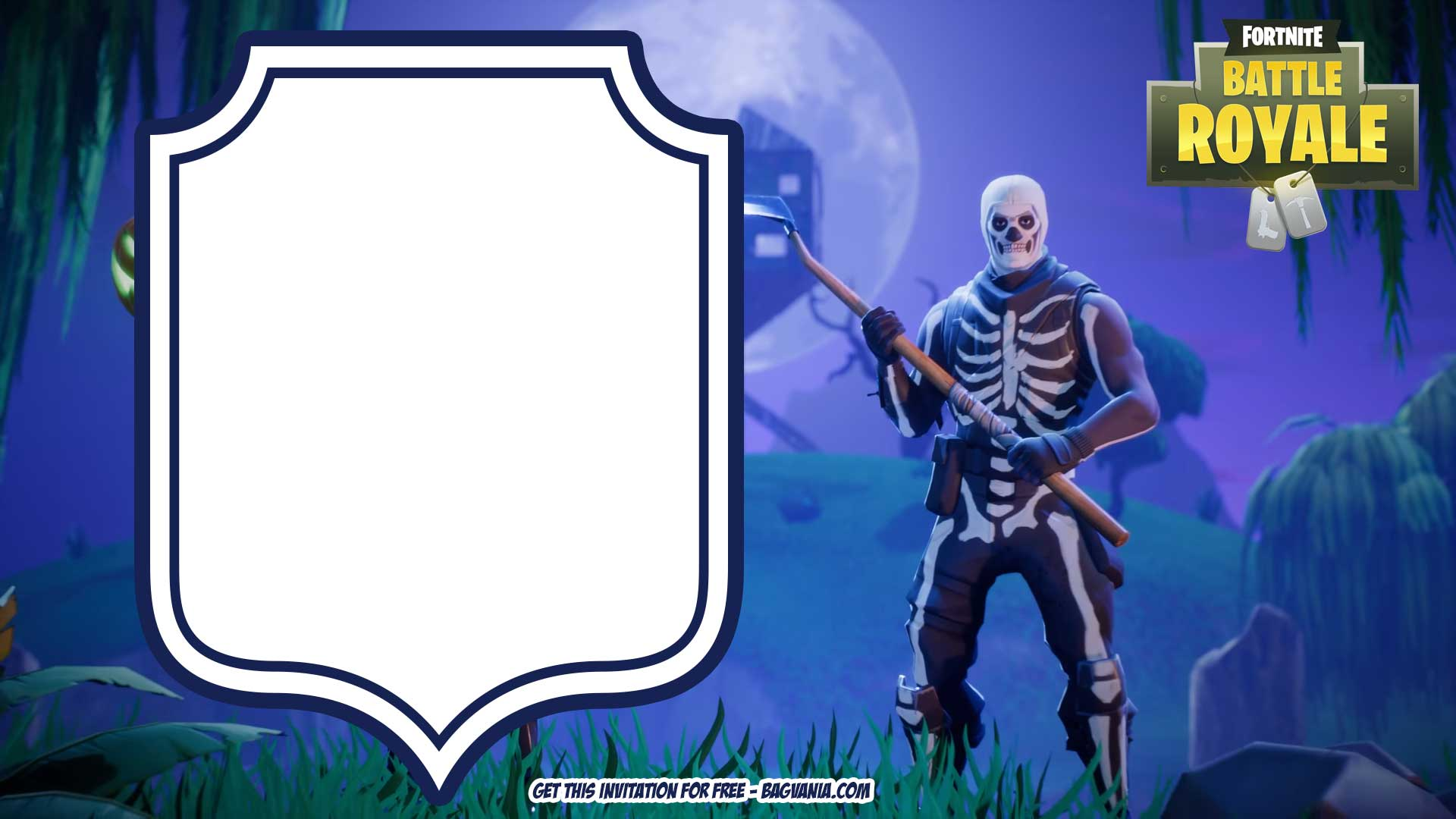 image regarding Printable Fortnite identify No cost-Printable-Fortnite-Halloween-INvitation-template No cost