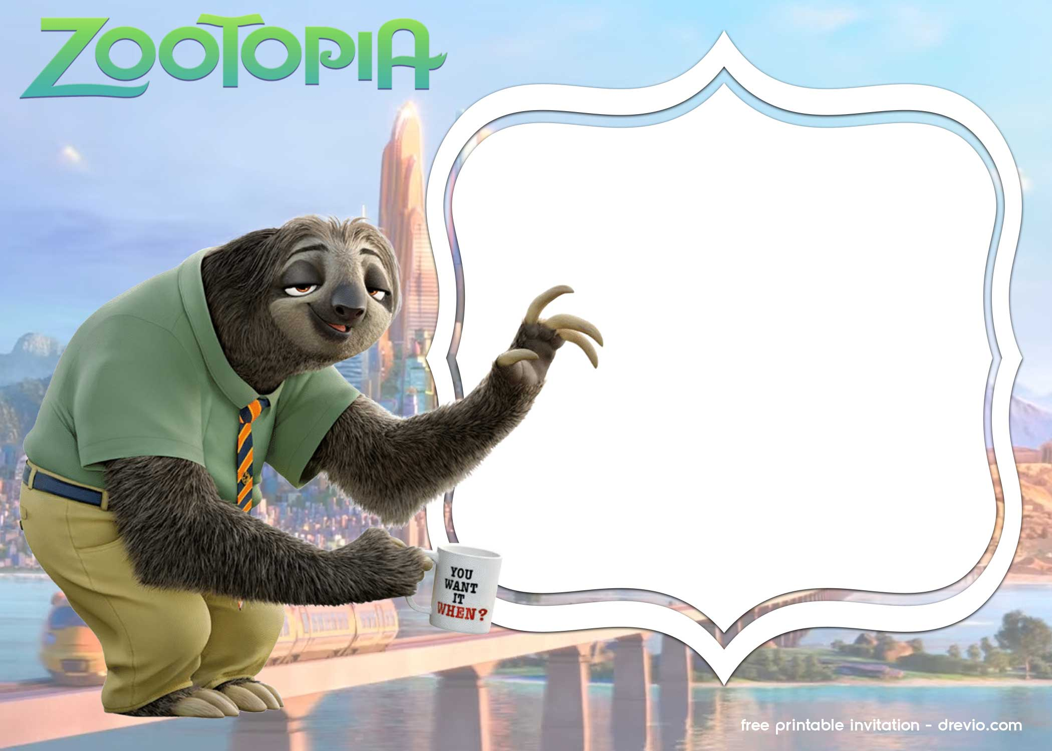 free zootopia invitation templates  u2013 free printable