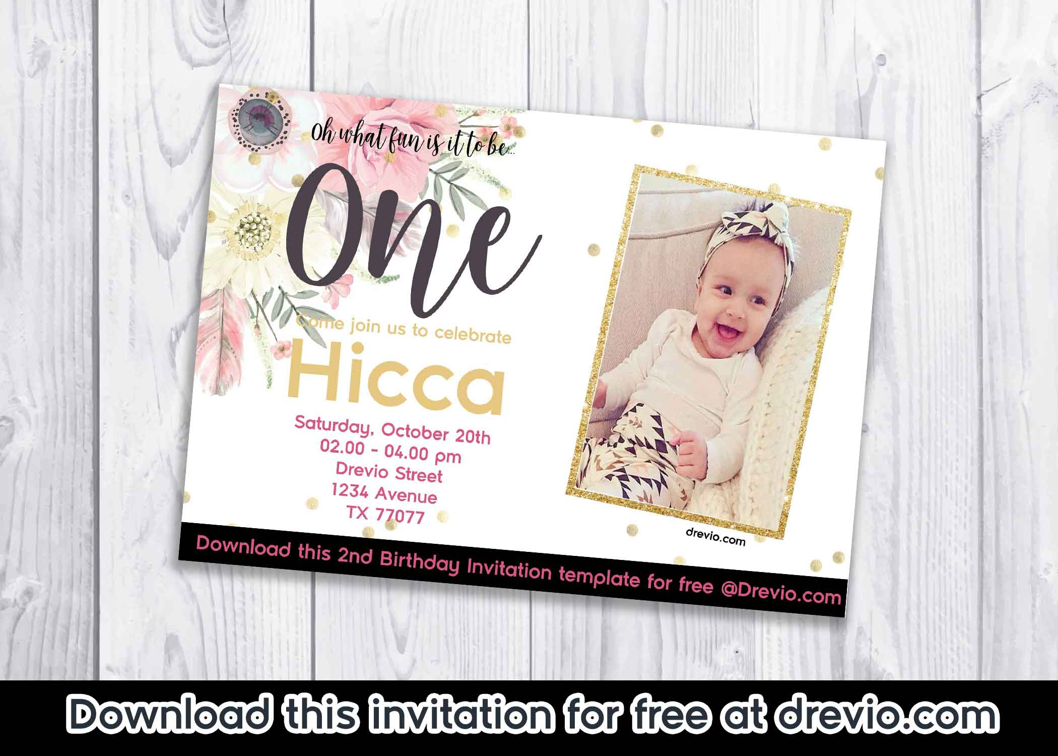 These Invitation Comes In JPG Files You Can Download By Clicking The Start Customization Write Down Your Party Details On It With A