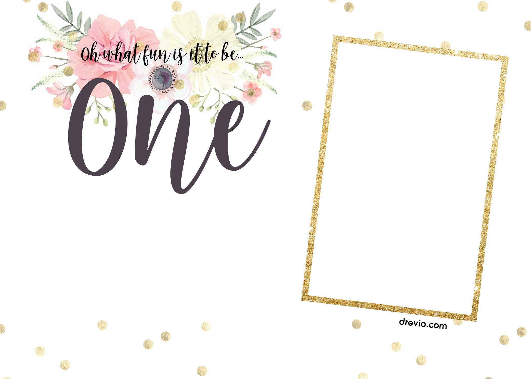 Free Printabe Boho Chic First Birthday