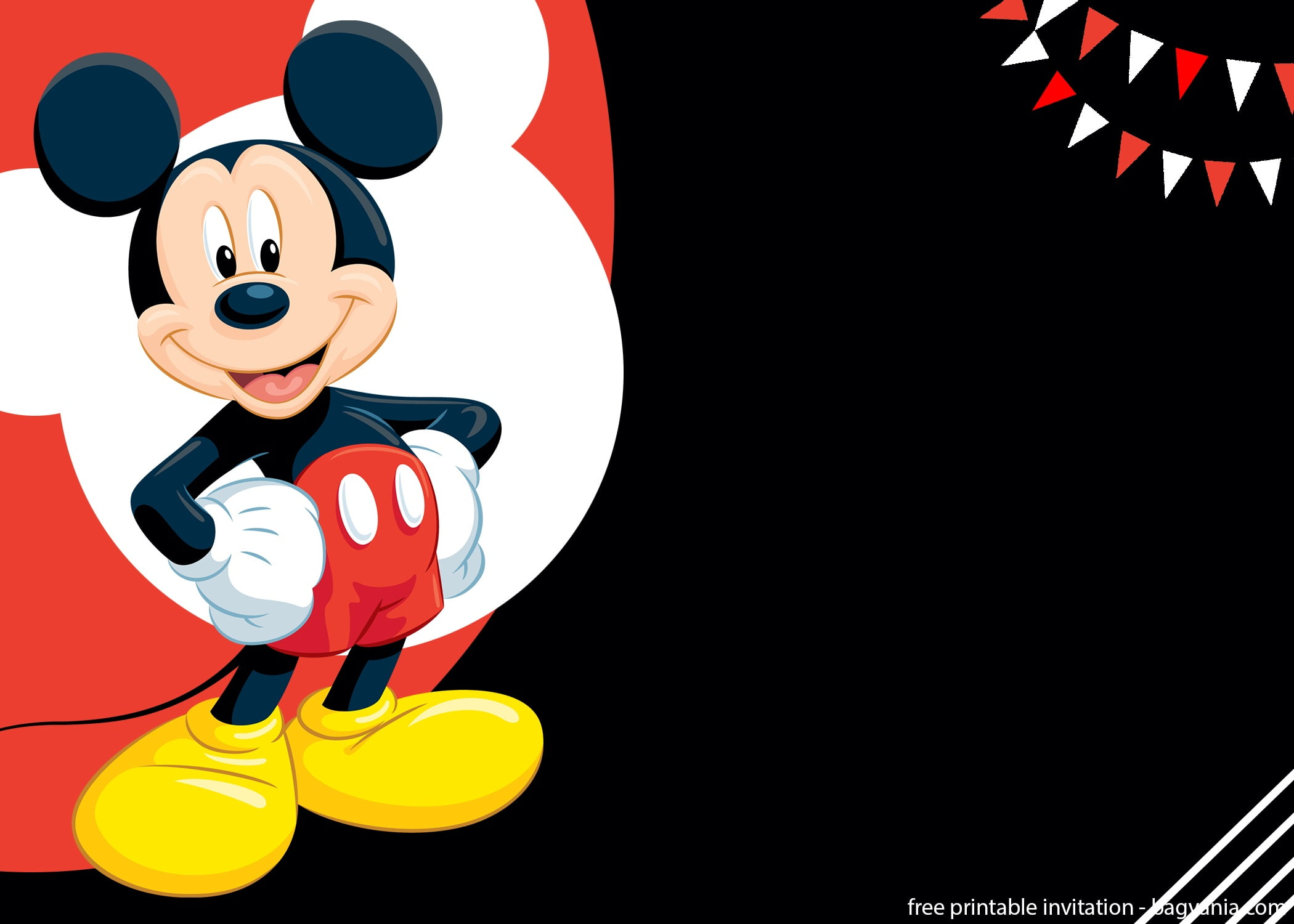 free mickey mouse splish splash invitation template  u2013 bagvania