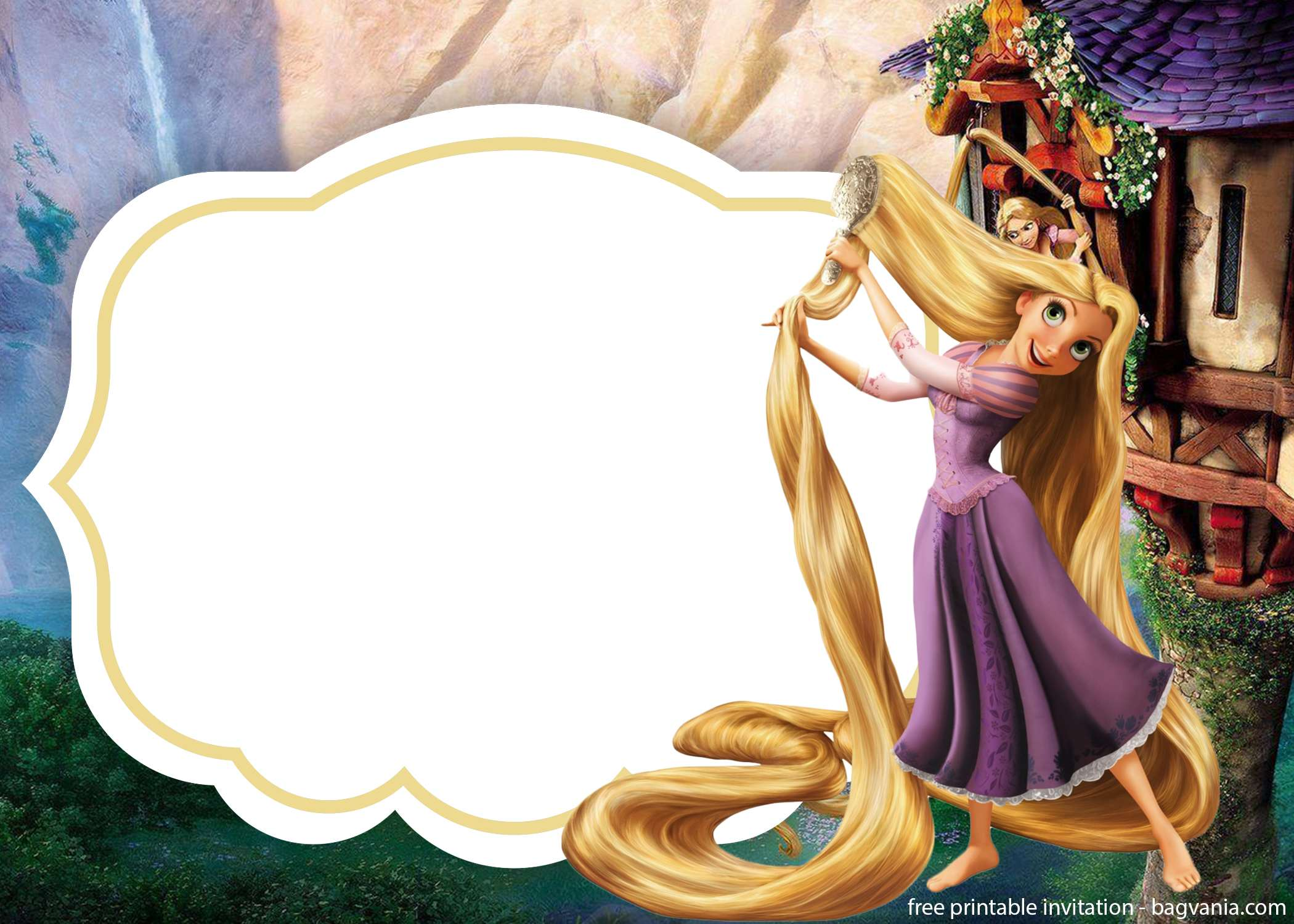 download rapunzel invitations template for free  u2013 free