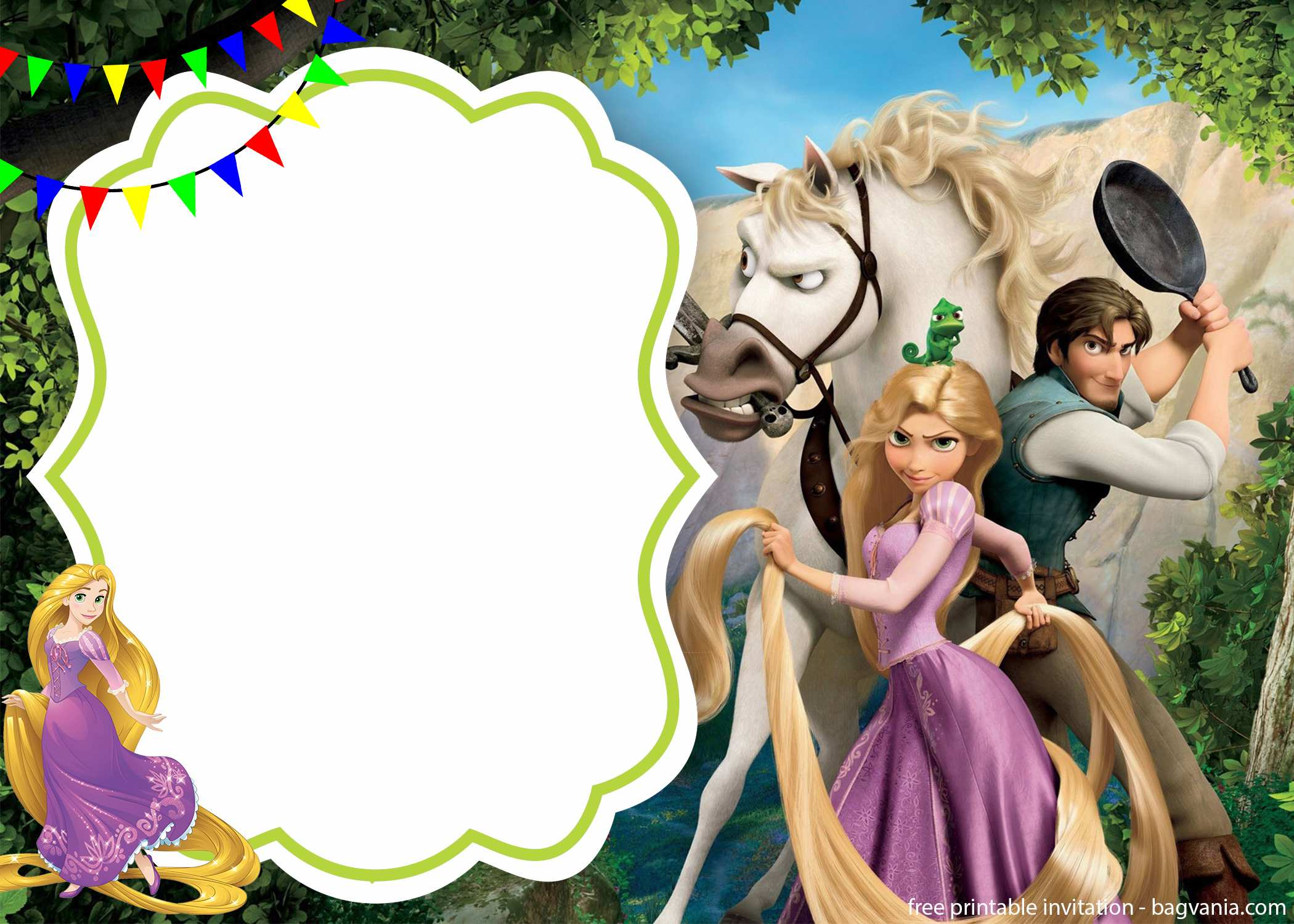 You Can Also Do The Printing Part At Your Home Using Regular Printer Before Royal Rapunzel Invitation Template