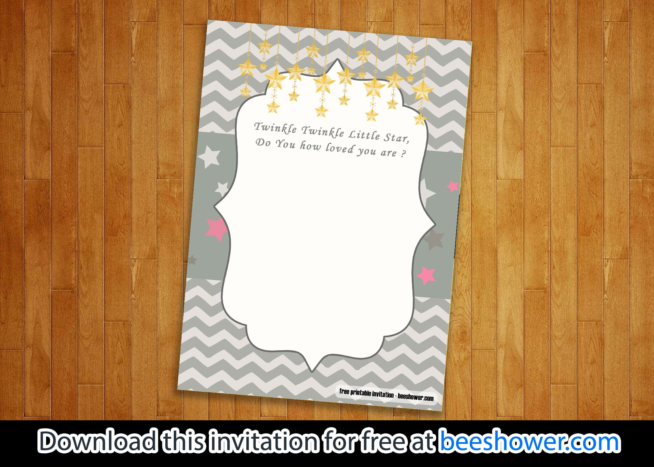 FREE Twinkle-Twinkle Little Star Baby Shower Invitations – FREE Printable  Birthday Invitation Templates – Bagvania
