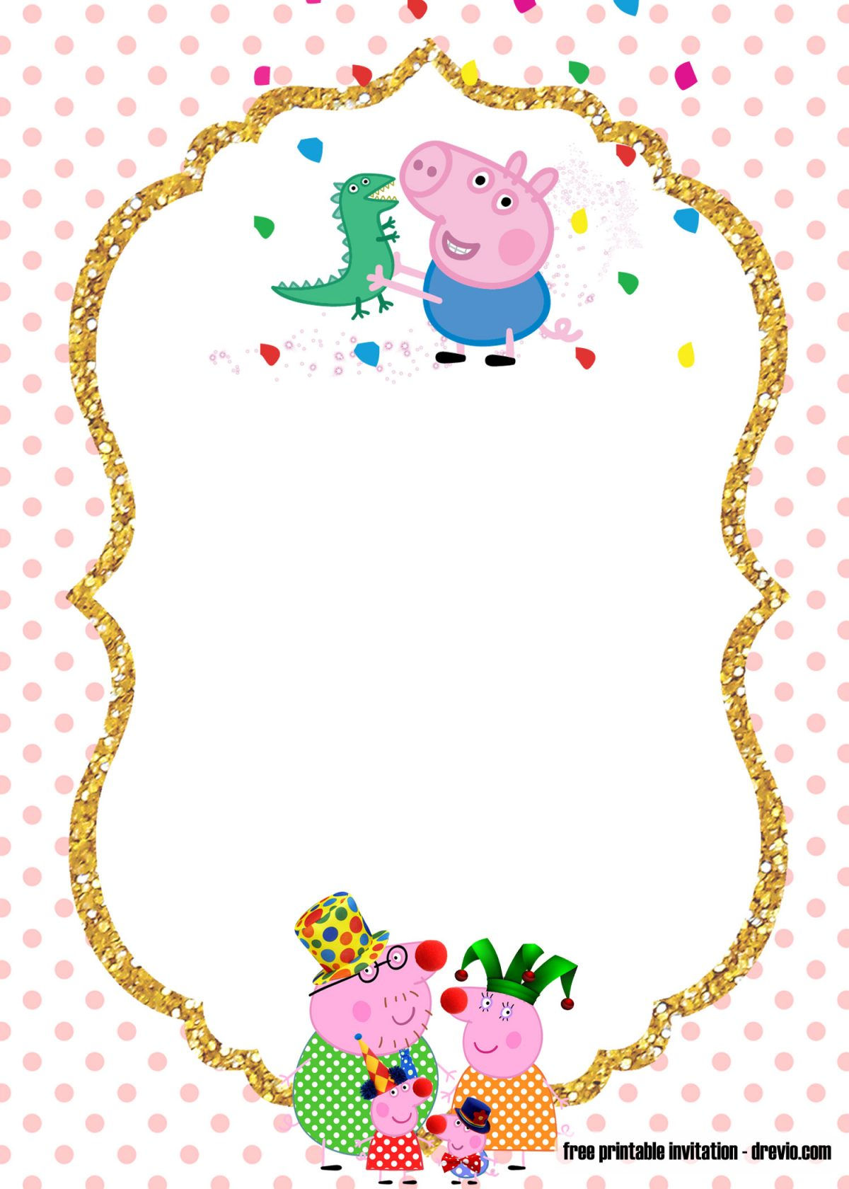 This is an image of Peppa Pig Character Free Printable Images for figura en foami de