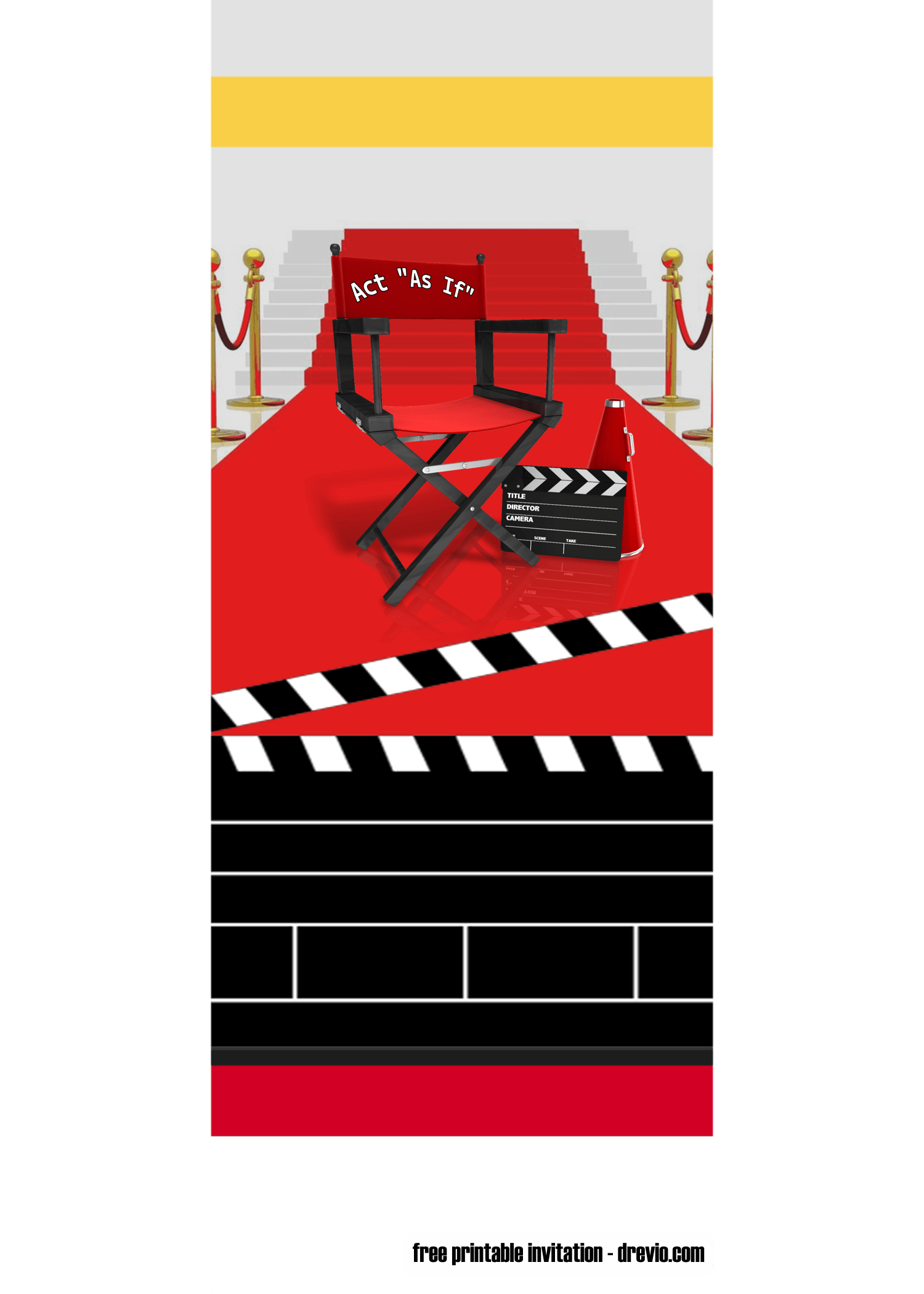 free movie ticket hollywood invitation templates  u2013 free