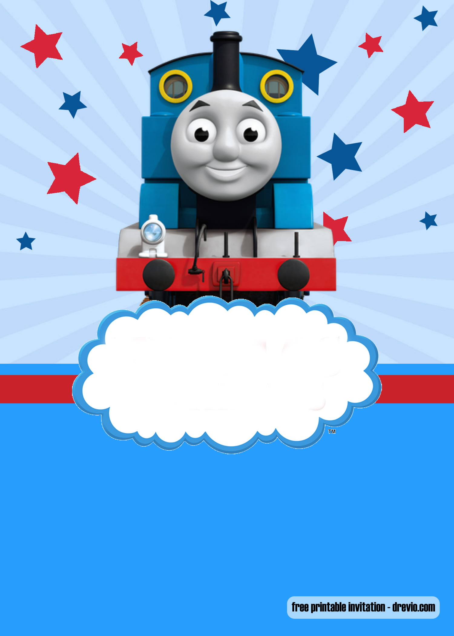 Free Thomas The Train Invitation Templates Bagvania