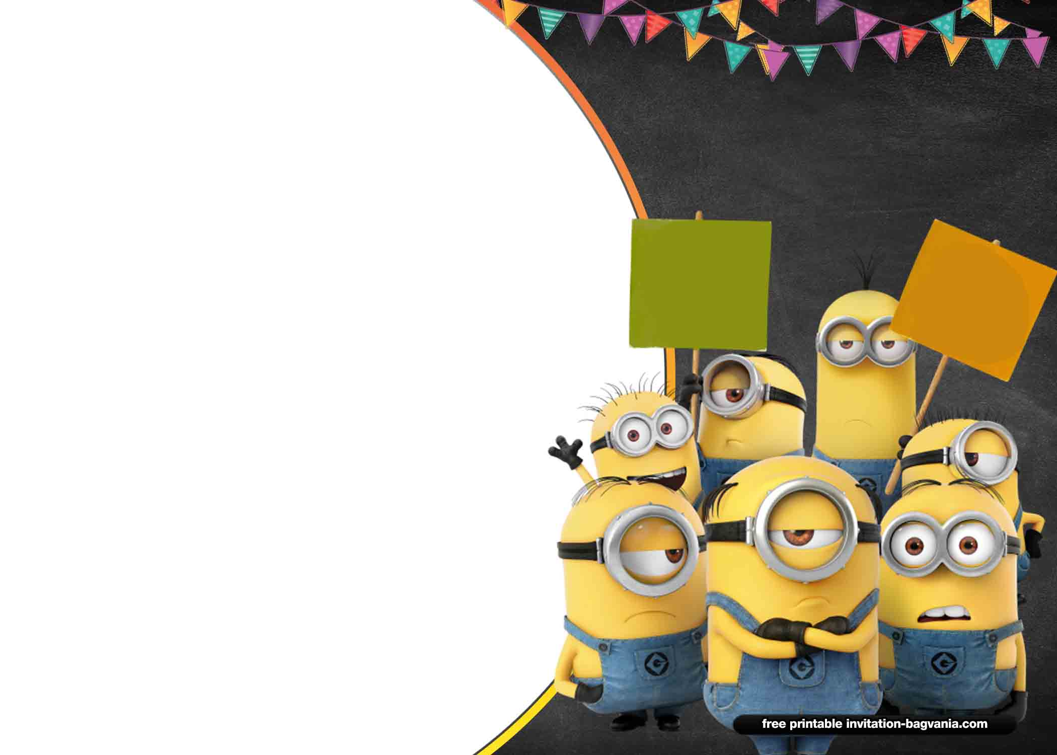photograph about Minions Printable Invitations referred to as Cost-free Minions Invitation Templates Free of charge Printable Birthday