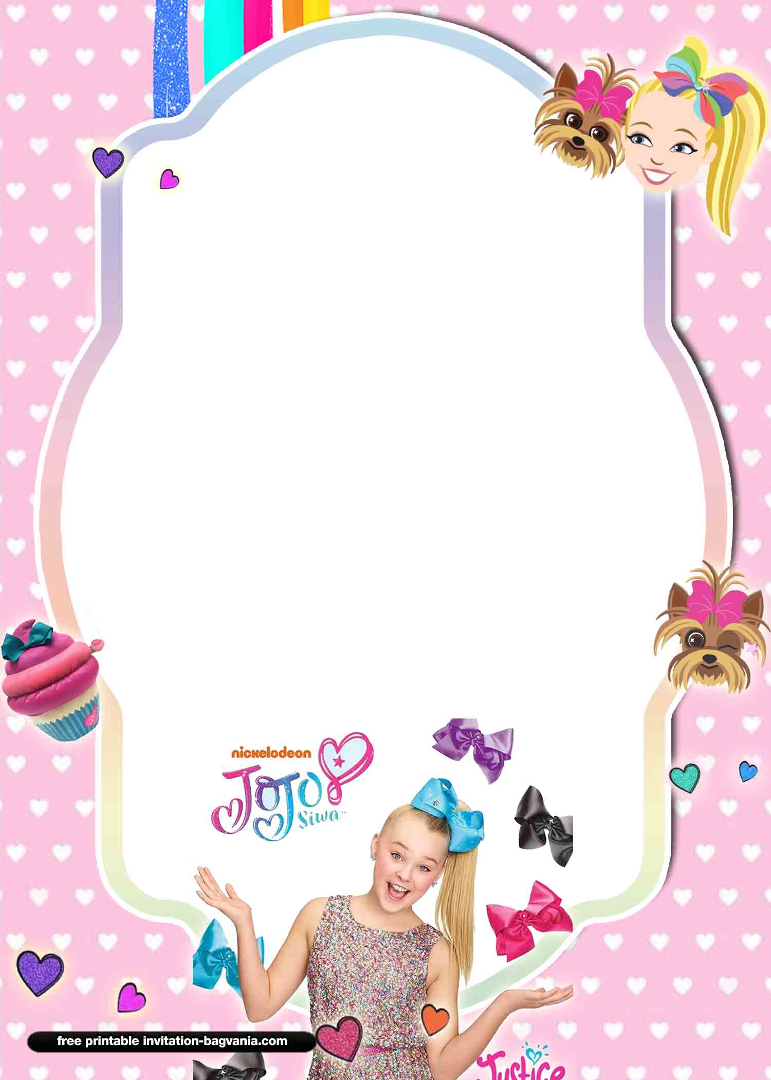 13  free jojo siwa invitation templates  u2013 free printable