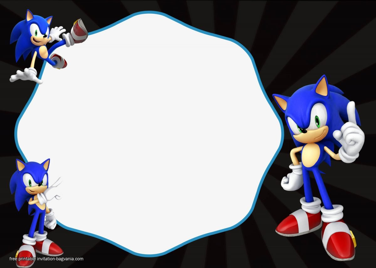 free sonic the hedgehog invitation templates  u2013 free