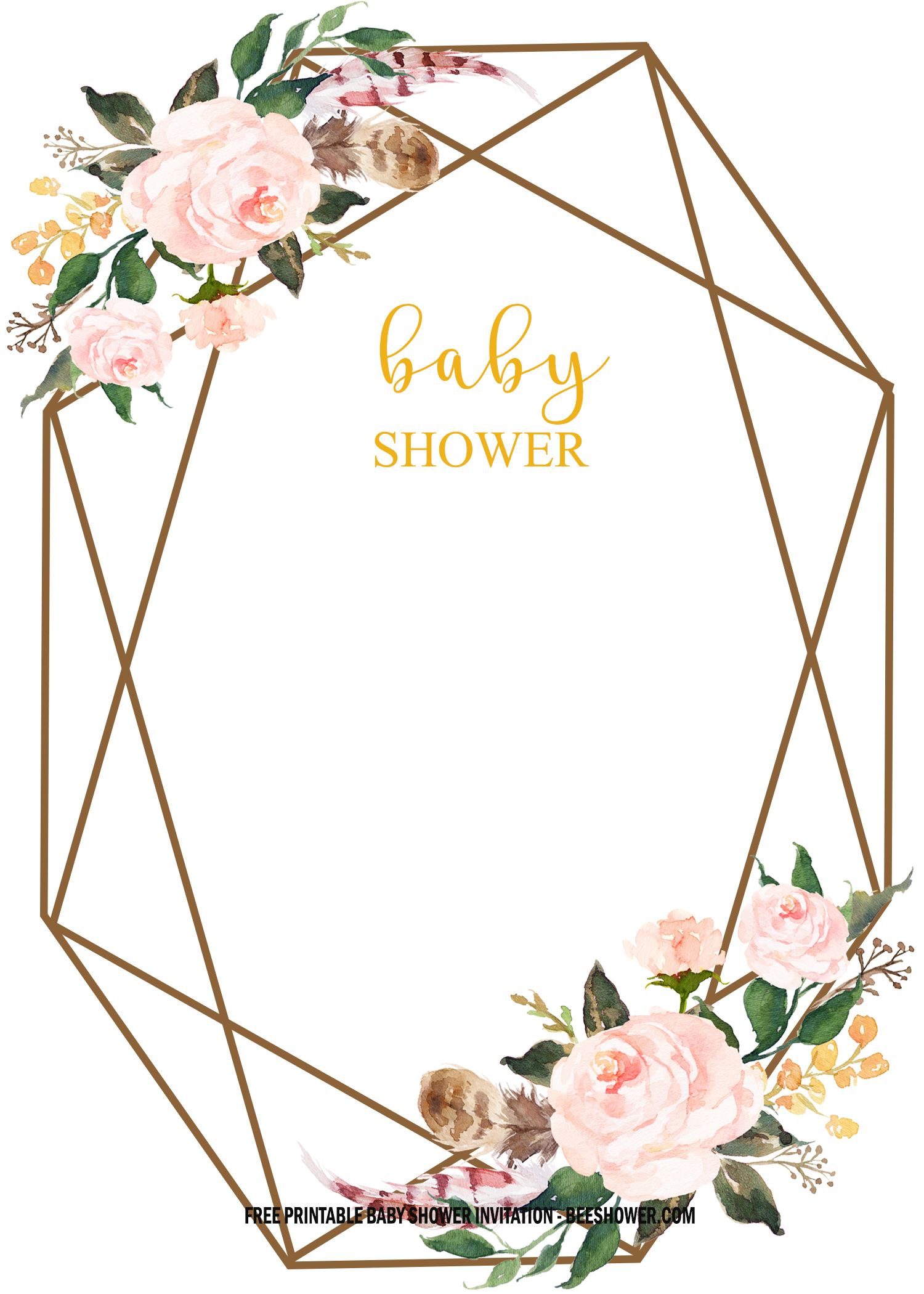 free floral baby shower invitation templates