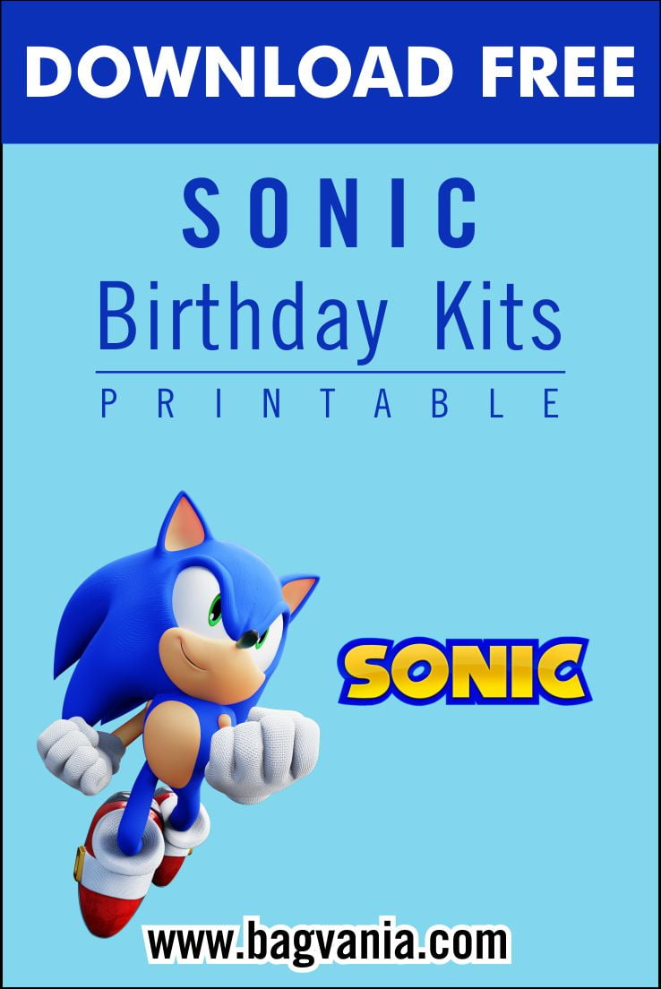 Free Printable Sonic The Hedgehog Birthday Party Kits Template Free Printable Birthday Invitation Templates Bagvania