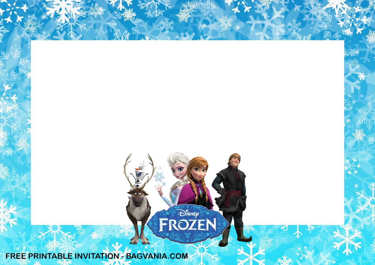 Free Printable Anna and Elsa Frozen Birthday Invitation Templates With Landscape Design