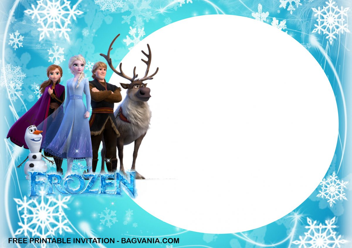 Free Printable Anna and Elsa Frozen Birthday Invitation Templates With Olaf and Kristoff