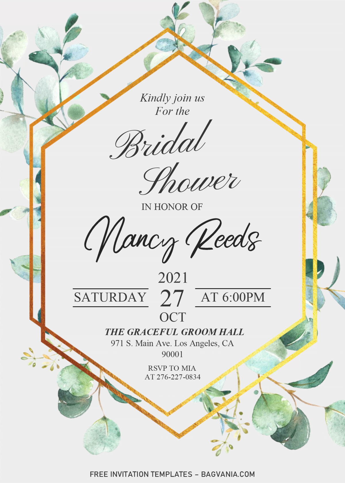 Modern Floral Invitation Templates - Editable .DOCX and has white background