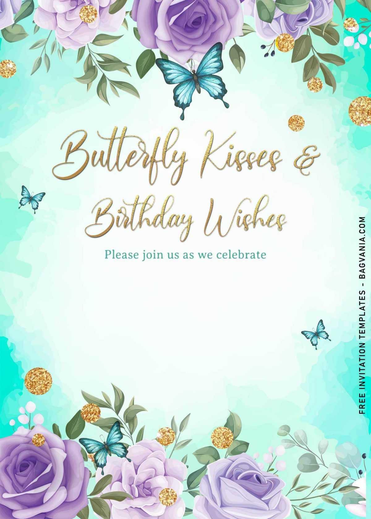7+ Magical Watercolor Butterfly Birthday Invitation Templates and has blue butterflies
