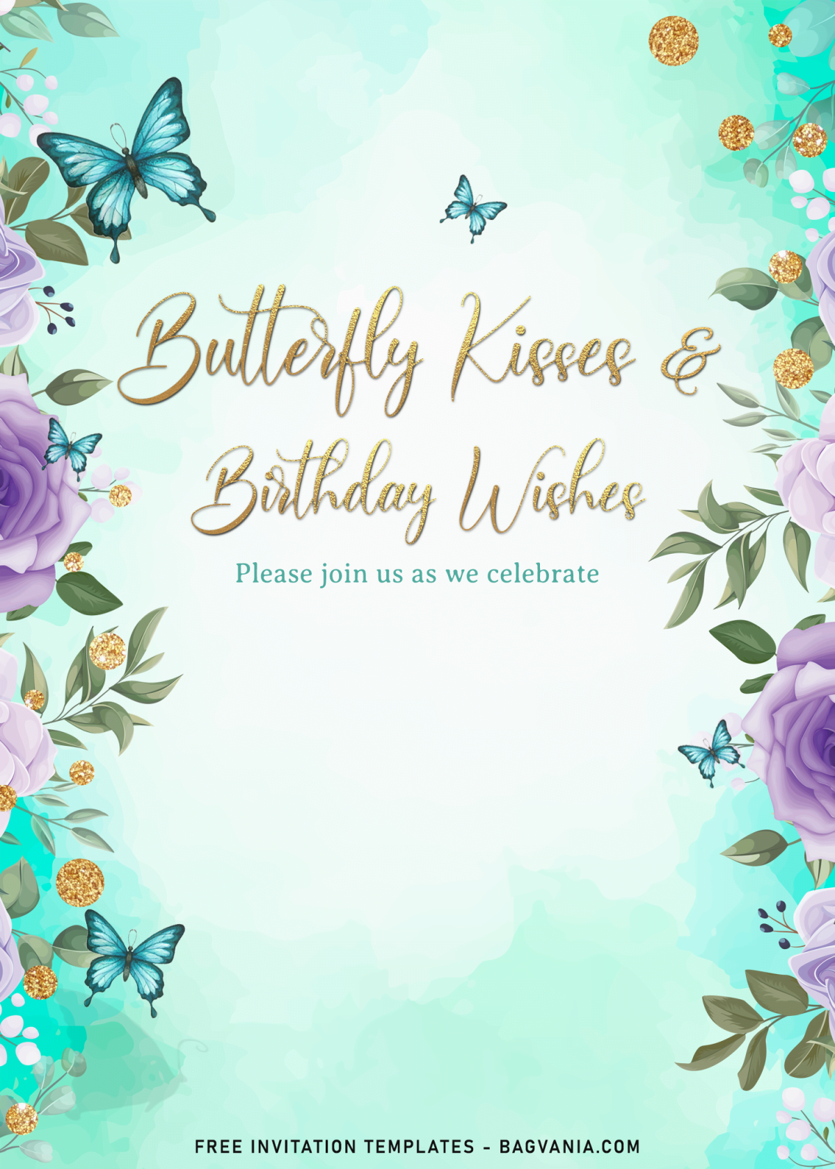 7+ Magical Watercolor Butterfly Birthday Invitation Templates