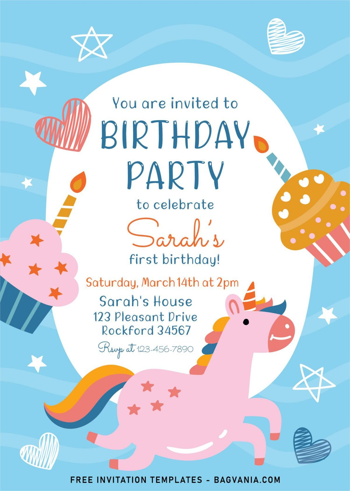 7+ Cute And Fun Birthday Invitation Templates For Kids Birthday Party