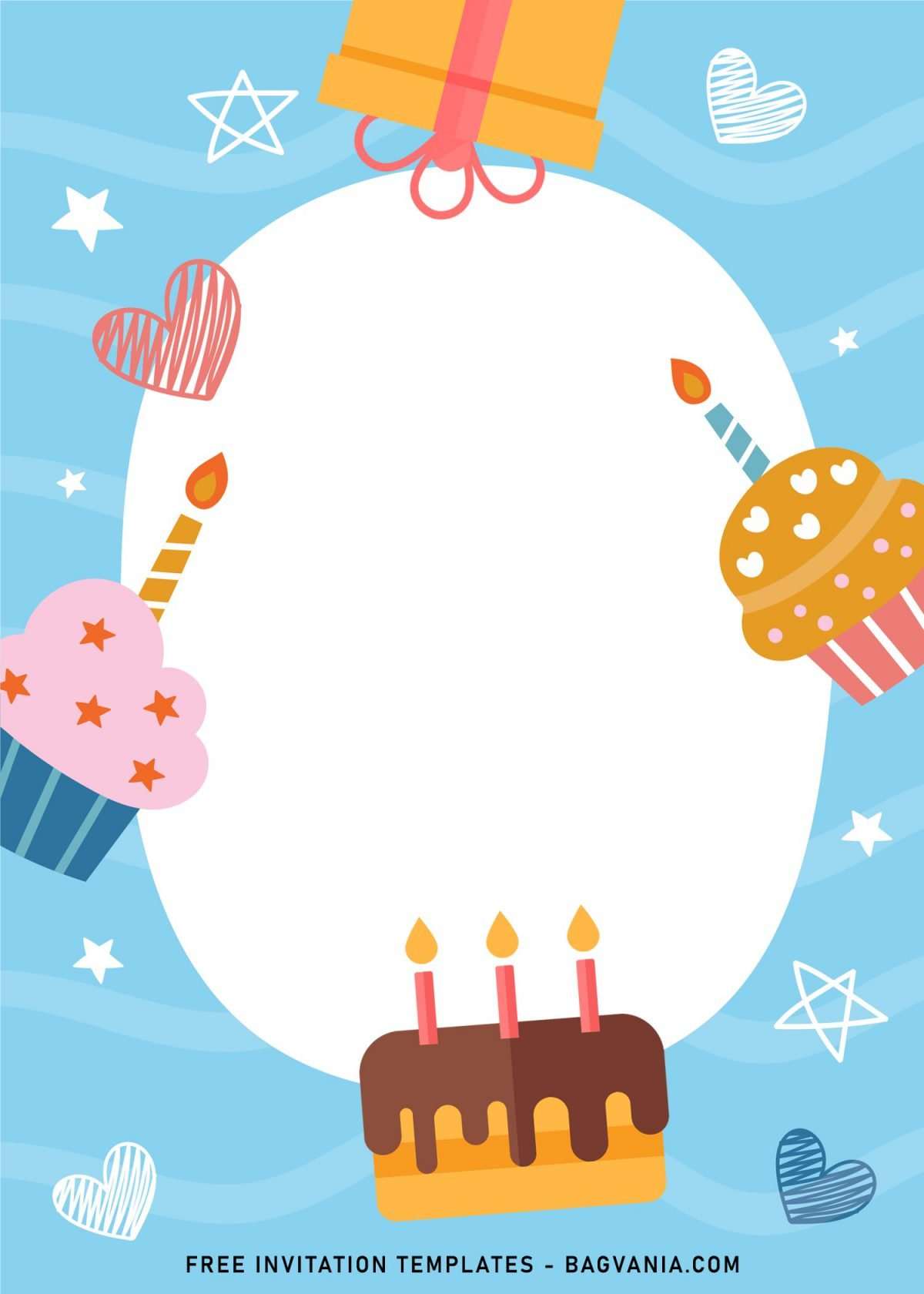 7+ Cute And Fun Birthday Invitation Templates For Kids Birthday Party and has birthday cake